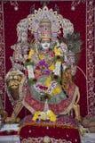 Shri Mata Vaishno Devi deity statue. Beautifully decorated Shri Mata Vaishno Devi deity statue royalty free stock photography