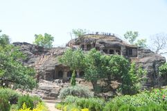 Shri Panch Pandav Caves a Panchmarhi, India immagine stock