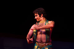 Shri Pavithra Bhat, Mumbai, Indian dancer. Indian dance festival - 2016 - Mamallapuram. January 12, 2016, Bharathanatyam Royalty Free Stock Image