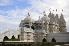 Shri Swaminarayan Mandir, Londyńska Muzułmańska świątynia, Guinnes światowy rekord Obraz Royalty Free