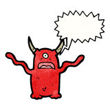 Shrieking demon cartoon Stock Photos