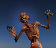 Shrieking Zombie. A zombie shrieks in horror at what it has become - 3D render Royalty Free Stock Photography