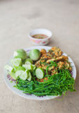 Shrim Paste Sauce, favorite thai traditional spicy food. On grunge backgrond stock photos