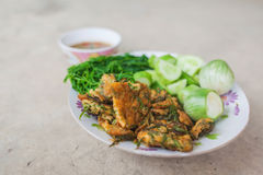 Shrim Paste Sauce, favorite thai traditional spicy food. On grunge backgrond stock photography