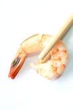 Shrimb fresco con la bacchette Immagine Stock Libera da Diritti