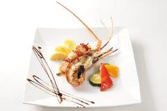 Shrimp. On a black table Stock Photo