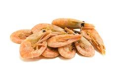 Shrimp. A bunch of shrimp isolated on white Stock Image