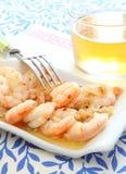 Shrimp. Spicy shrimp whit garlic at spanish style Royalty Free Stock Photography