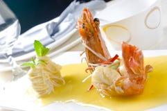 Shrimp. Close up on white Royalty Free Stock Photos