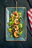 Shrimp And Avocado Salad With Grapefruit Royalty Free Stock Image
