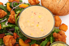Shrimp And Lobster Chowder Royalty Free Stock Photo