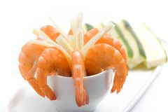 Shrimp Appetizer Royalty Free Stock Images