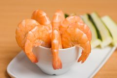Shrimp appetizer Royalty Free Stock Photography