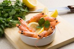 Shrimp appetizer Stock Photo