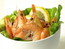 Shrimp appetizer,  Royalty Free Stock Photos