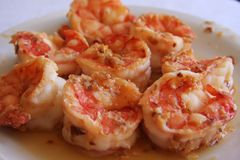 Shrimp appetizer Stock Images