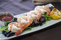 Shrimp appetizer Royalty Free Stock Image