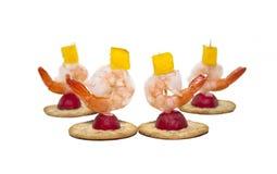 Shrimp appetizers Stock Image