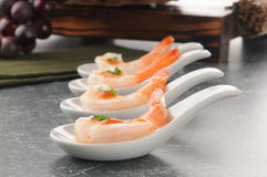 Shrimp appetizers royalty free stock photography