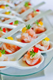 Shrimp appetizers during a party Stock Images