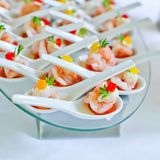 Shrimp appetizers during a party