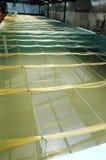 Shrimp aquaculture bath. At small industry Royalty Free Stock Image