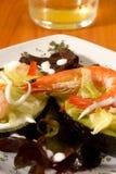 Shrimp avocado salad. Shrimp and avocado salad with low calorie dressing Stock Photo