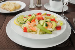 Shrimp and avocado salad Stock Image