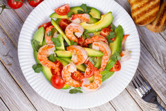 Shrimp and avocado salad. Royalty Free Stock Photography