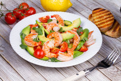 Shrimp and avocado salad. Stock Images