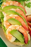 Shrimp And Avocado Sandwich Stock Photography