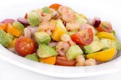 Shrimp and avocado summer salad Royalty Free Stock Photo