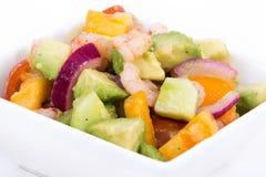 Shrimp and avocado summer salad Royalty Free Stock Photography