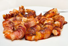 Shrimp with bacon Royalty Free Stock Photo