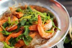 Shrimp bake vermicelli - chinese food Stock Photos