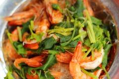 Shrimp bake vermicelli - chinese food Stock Image