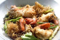 Shrimp Baked vermicelli Royalty Free Stock Image