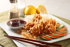 Shrimp balls. With fried noodles Royalty Free Stock Images