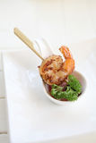 Shrimp barbecue Royalty Free Stock Images