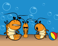 Shrimp at the beach Royalty Free Stock Image