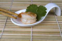 Shrimp Bite with Chopsticks Royalty Free Stock Image