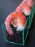 Shrimp with black rice Royalty Free Stock Photo