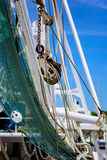 Shrimp boat net Stock Image