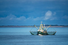 Shrimp boat on the North Sea Royalty Free Stock Image