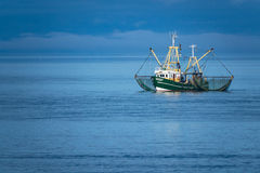 Shrimp boat on the North Sea Stock Image