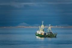 Shrimp boat on the North Sea, Germany Stock Photo
