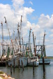 Shrimp Boats 1. Shrimp Boats docked at the wharf stock photos