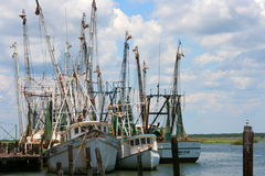 Shrimp Boats 2. Shrimp Boats docked at the wharf royalty free stock images