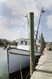Shrimp Boats. Moored in historic McClellanville, South Carolina Stock Images