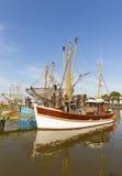 Shrimp Boats At The German North Sea Coast Stock Photos